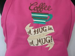 Coffee: A Hug in a Mug Adjustable Chef's Apron