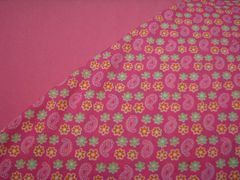 NeNee's Soft Blankies Pink Paisley and Flowers