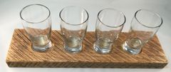 4 Beer Sample Flight made from Reclaimed Barn Wood