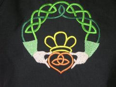 Gaelic/Irish Claddagh Adjustable Chef's Apron