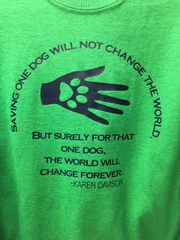 "Karen Davison Quote ""The world will change forever. ""Sweatshirt or Hoodie"