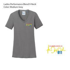 Dispatcher - Ladies Performance Blend V-Neck Tee