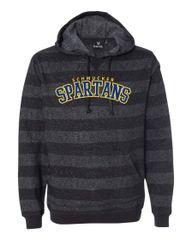 (E) Burnside - Printed Stripes Fleece Sweatshirt