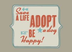 Save a Life ... Adopt a Dog ... Be Happy Unisex Hoodie