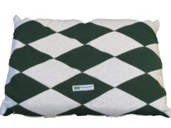 CrateMates Diamond Pillow Pet Bed - Green Gray