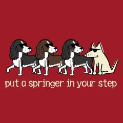 Put a Springer in Your Step (Medium V-Neck)