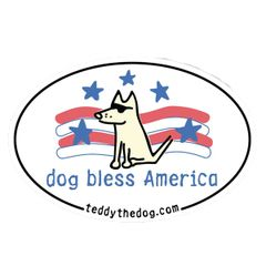 Dog Bless America - Magnet