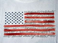 Liberty Freedom Old Glory Ladies T-shirt