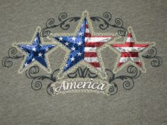 Tri-Star America Heather Green Ladies T-shirt