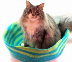 Large Wool Felt Pet Nest Cat Bed Dog Bed