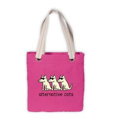 Alternative Cats Canvas Tote Bag