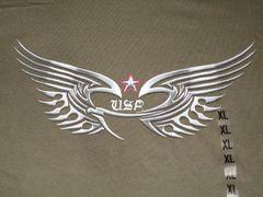 USA Chrome Eagle Army Green Unisex T-shirt
