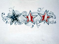 Stars and Stripes USA - White Ladies T-shirt