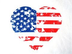 Heart Shaped Flag T-shirt