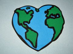 Heart Shaped Earth T-shirt