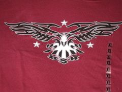 USA Black Eagle on Maroon Unisex tee