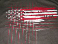USA Red White Flag Unisex tee