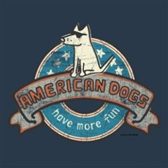 American Dogs - Navy Ladies V-neck Tee