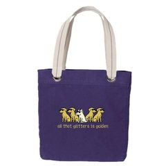 All That Glitters is Golden Canvas Tote Bag