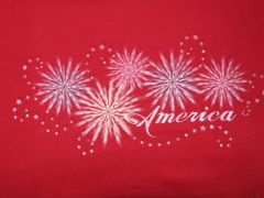 American Fireworks Ladies T-shirt