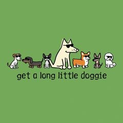 Get A Long Little Doggie (Ladies V-Neck)