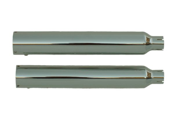 """16405-225 Softail Deluxe 05-06 Slip-on Muffler Chrome Tip Compatible 2.25"""" Baffle"""