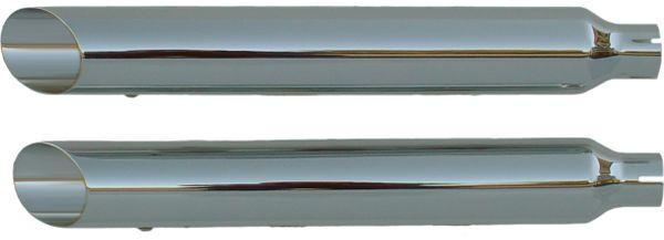 "16404-225 Softail Deluxe 05-06 Slip-on Muffler Chrome Baloney Cut 2.25"" Baffle"