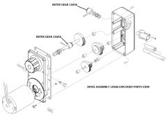 Barker Drive Assembly Miter Gear 14454