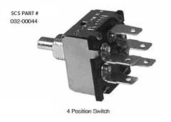 INDAK 4 Position Blower Switch 032-00044
