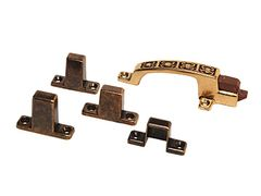 RV Designer Positive Door Latch, Hieroglyphic Design, Bronze, H241