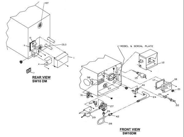 suburban water heater model sw10dm parts