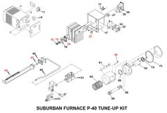 Suburban Furnace Model P-40 Tune-Up Kit