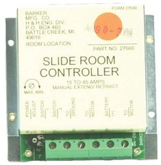 Barker Slide Out Controller 27666