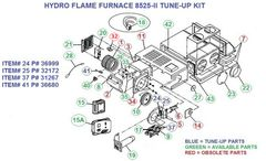 Atwood / HydroFlame Furnace Model 8525-II Tune-Up Kit