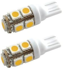 194 LED Bulb, 9 High Power LEDs, 100 Lumens, Warm White, 2 Pack, 5050113