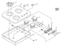 Suburban Model SDN3 Complete Burner Kit