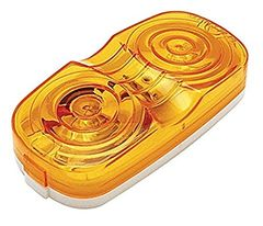 Amber Incandescent Double Bullseye Marker / Clearance Light