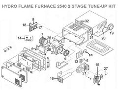 Atwood / HydroFlame Furnace Model 2540 2 STAGE Tune-Up Kit