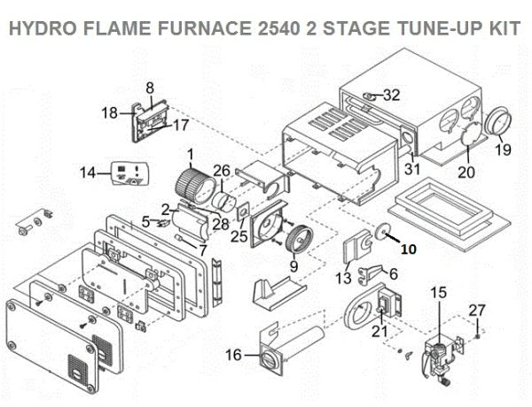 Atwood    Hydroflame Furnace Model 2540 2 Stage Tune