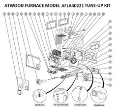 Atwood / HydroFlame Furnace Model AFLA40221 Tune-Up Kit