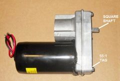 Barker Slide Out Power Head Drive Assembly, 55:1 Version, 27250
