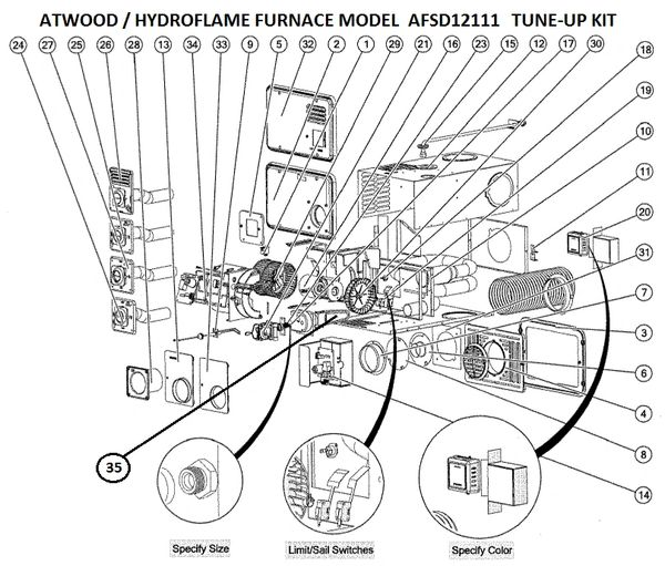 atwood furnace model afsd12111 parts