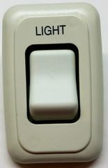 12 VDC Single White Contoured Light Switch Assembly AH-ASY-1-1-010