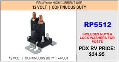 HWH Continuous Duty Pump Relay RP5512
