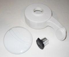 SeaLand Toilet Pedal & Cartridge Kit, White, 385311121