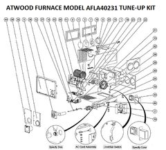 Atwood / HydroFlame Furnace Model AFLA40231 Tune-Up Kit