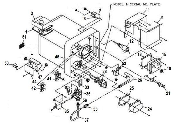 Suburban Water Heater Model SW16DEL Parts | pdxrvwholesale on