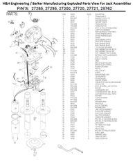 Barker Jack 28762 Rebuild Kit