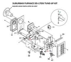 Suburban Furnace Model DD-17DSI Tune-Up Kit