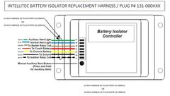 Intellitec Battery Isolator Control Harness / Plug, 131-000HXX